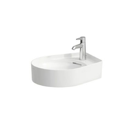 812281 - Laufen Val 500mm x 400mm Bowl Washbasin with Semi-Wet Area  - 8.1228.1
